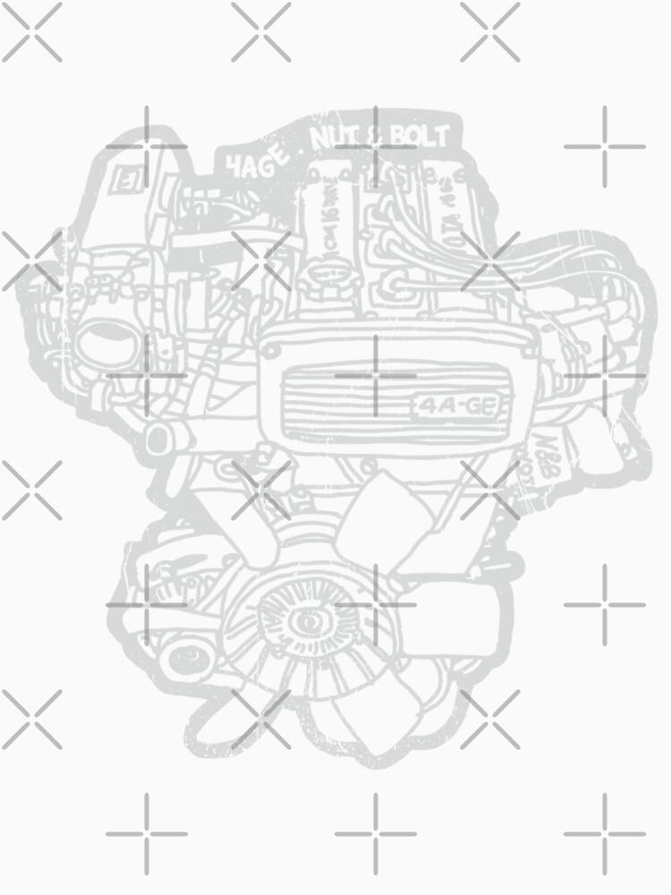 Toyota Ae86 Corolla Levin Sprinter Trueno 4age Engine T Shirt By