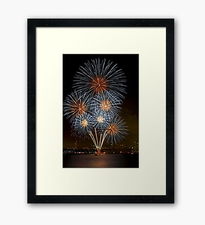 The Bouquet | New Years Eve | Sydney Harbour Framed Print