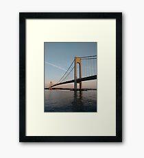 Verrazano Narrows Bridge, #Verrazano, #Narrows, #Bridge, #VerrazanoNarrowsBridge, #VerrazanoBridge, #NewYorkCity, #NewYork Framed Print