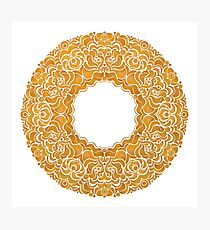 Golden doughnut  Photographic Print
