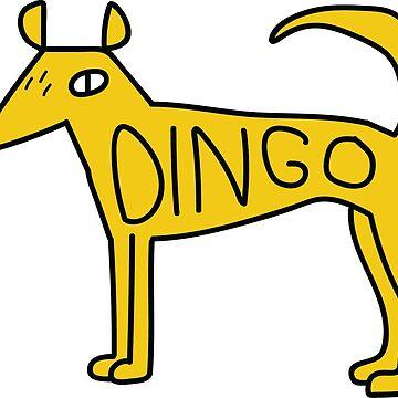 Dingo Dog sticker by strangerandfict
