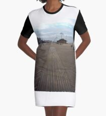 Coney Island - New York, #Coney, #Island, #New, #York, #ConeyIsland, #NewYork, #Boardwalk Graphic T-Shirt Dress