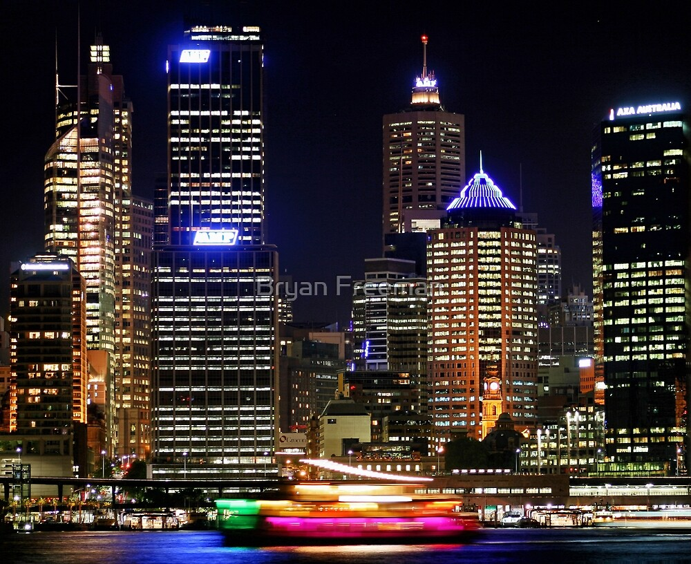 Circular Quay at Night - Sydney - Australia by Bryan Freeman