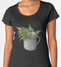 Mug with fern leaves Women's Premium T-Shirt