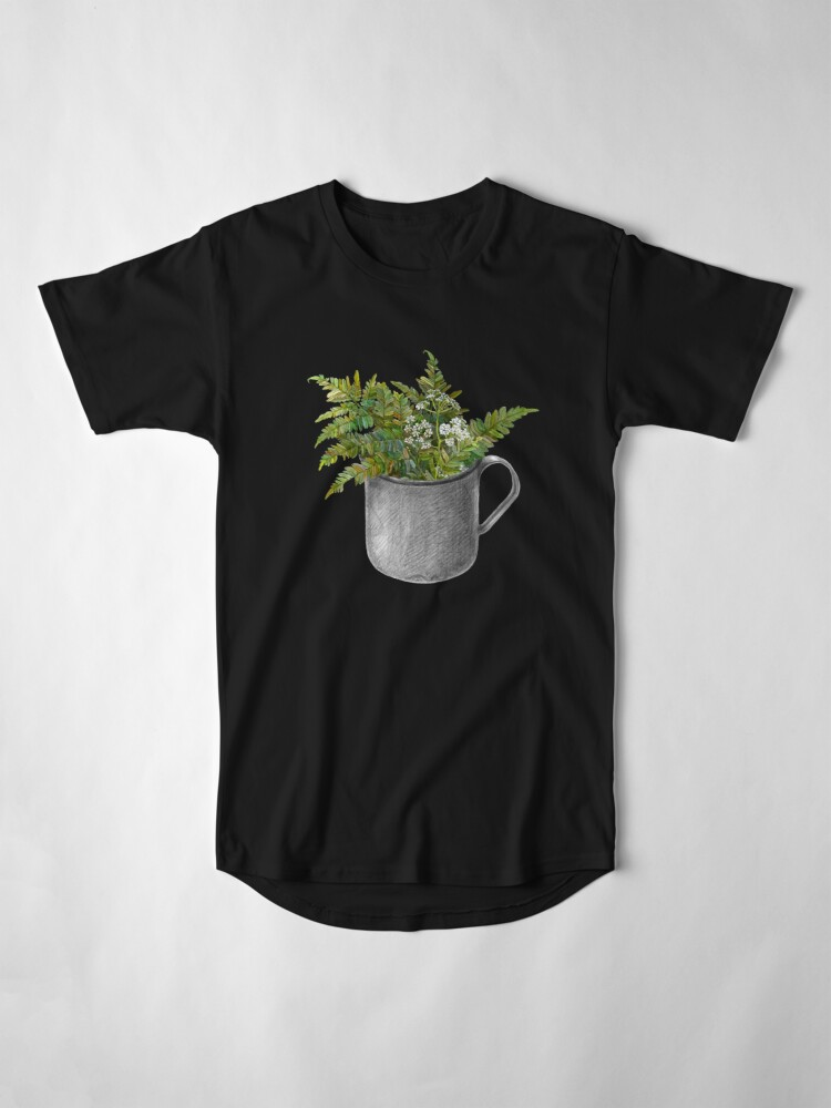 Alternate view of Mug with fern leaves Long T-Shirt