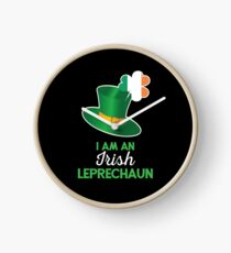 Irish St Patricks Day Leprechaun Clock
