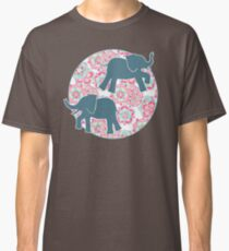Tiny Elephants in Fields of Flowers Classic T-Shirt