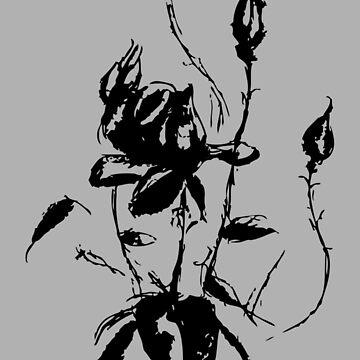 Black rose No.4 by zeljkica