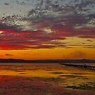 Long Jetty On Fire | New South Wales | Australia by Bryan Freeman