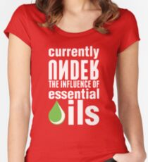 I love essential oils and under essential oils tshirt Women's Fitted Scoop T-Shirt