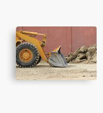 Blade of a Heavy Loader Canvas Print