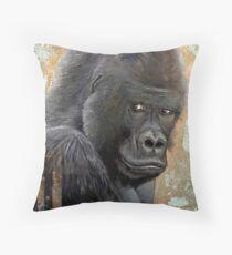 Silverback Gorilla Tierportrait Dekokissen