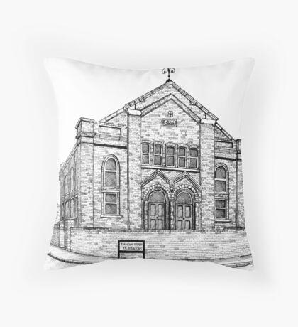 269 - SEION WELSH BAPTIST CHAPEL, PONCIAU - DAVE EDWARDS - INK - 2018 Throw Pillow