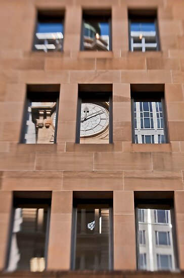 A Reflection of The General Post Office Clock Tower - Sydney - Australia by Bryan Freeman