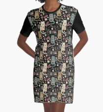 Cat Folk  Graphic T-Shirt Dress
