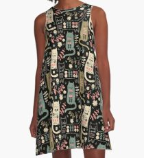 Cat Folk  A-Line Dress