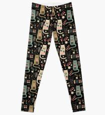 Katzen-Folk Leggings