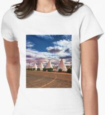 Route 66 Wigwam Motel Womens Fitted T-Shirt