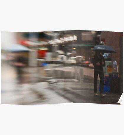The Man Under The Umbrella - Sydney - Australia Poster