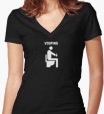 Vooping Voop Life Vape Vaping Vaper Funny  Women's Fitted V-Neck T-Shirt