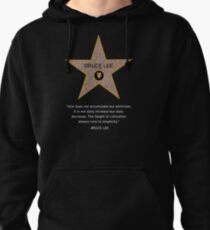 Bruce Lee Star Quotation Pullover Hoodie