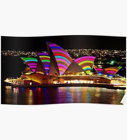Crochet Sails - Sydney Vivid Festival - Sydney Opera House Poster