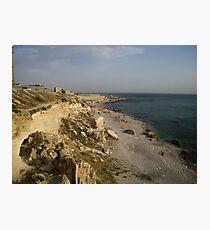 Cliffs Over the Caspian Sea Photographic Print
