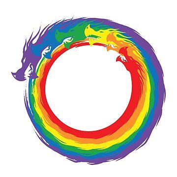 Infinity Rainbow Dragons by EyeSeeMS