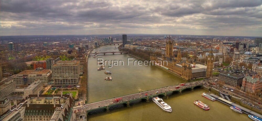 The Thames & London Panorama by Bryan Freeman
