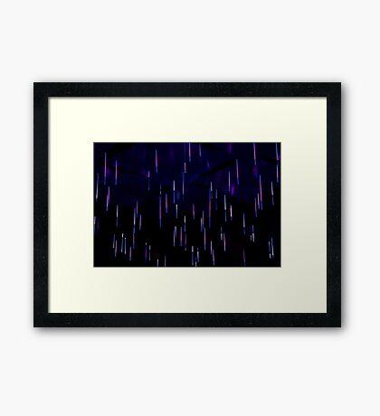 Light Rain - Vivid Festival - Sydney Framed Print