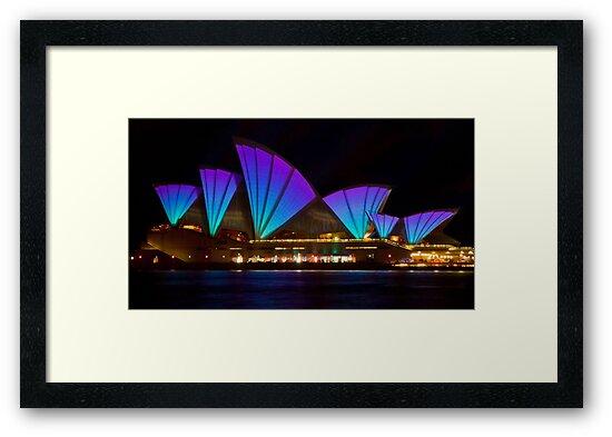 Clear Blue Sails - Sydney Vivid Festival - Sydney Opera House by Bryan Freeman