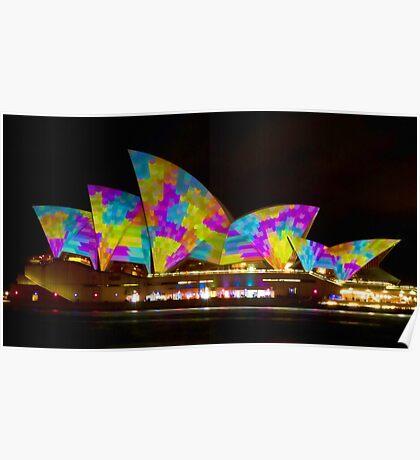 Dress Sails - Sydney Vivid Festival - Sydney Opera House Poster