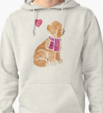 Watercolour Cockapoo dog Pullover Hoodie