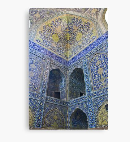 Inside Imam Mosque II - Isfahan - Iran Canvas Print