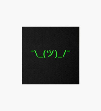 Shrug Emoji - Emoticon - Shruggie - Ascii - green Art Board