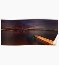 Applecross Jetty At Dusk  Poster