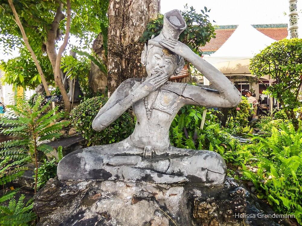 Thai Yoga statue at Wat Pho by Helissa Grundemann