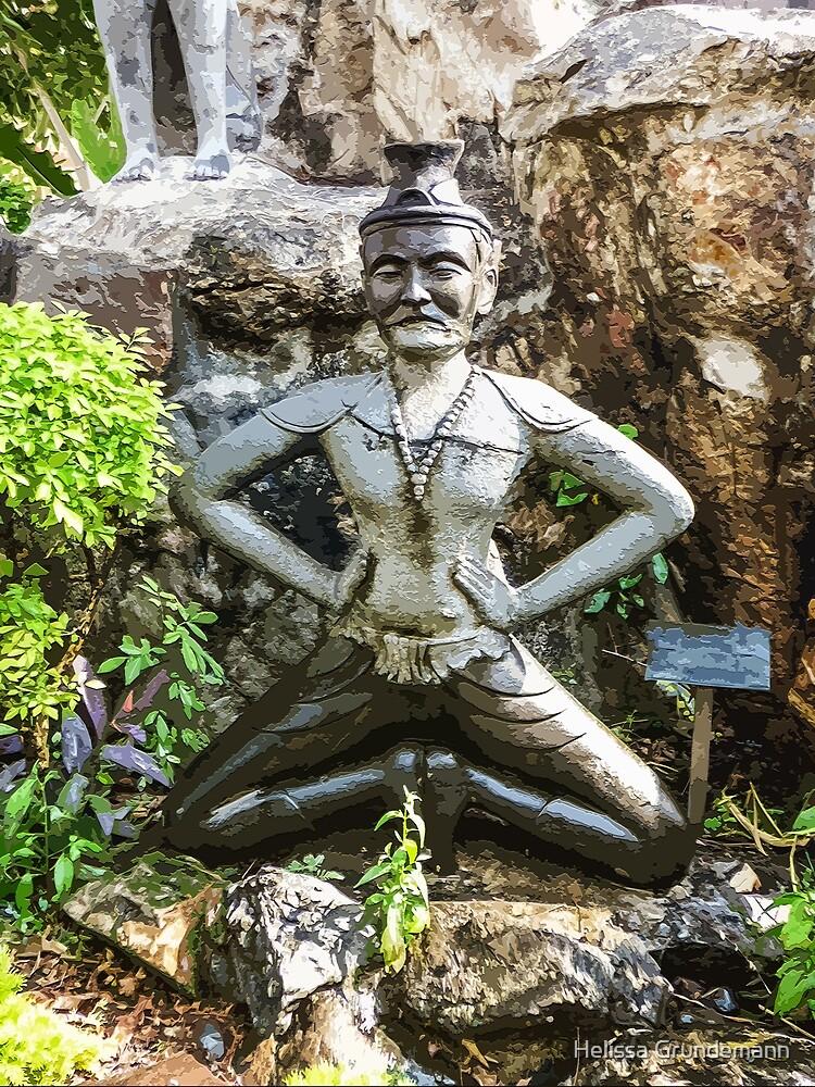 Reusi Dat Ton statue at Wat Pho by Helissa Grundemann