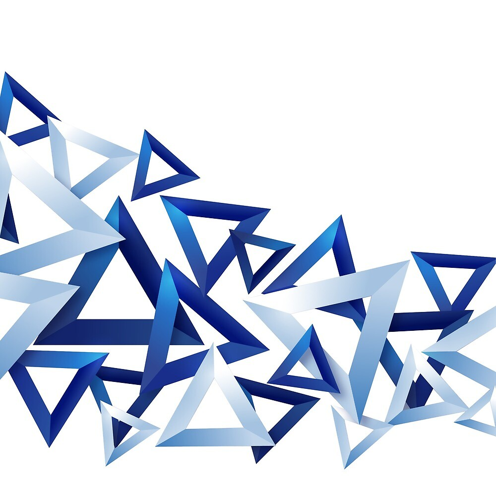 Blue shaded Triangles .... by Anwar Hussain