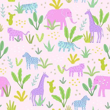 Cute safari animals by kondratya