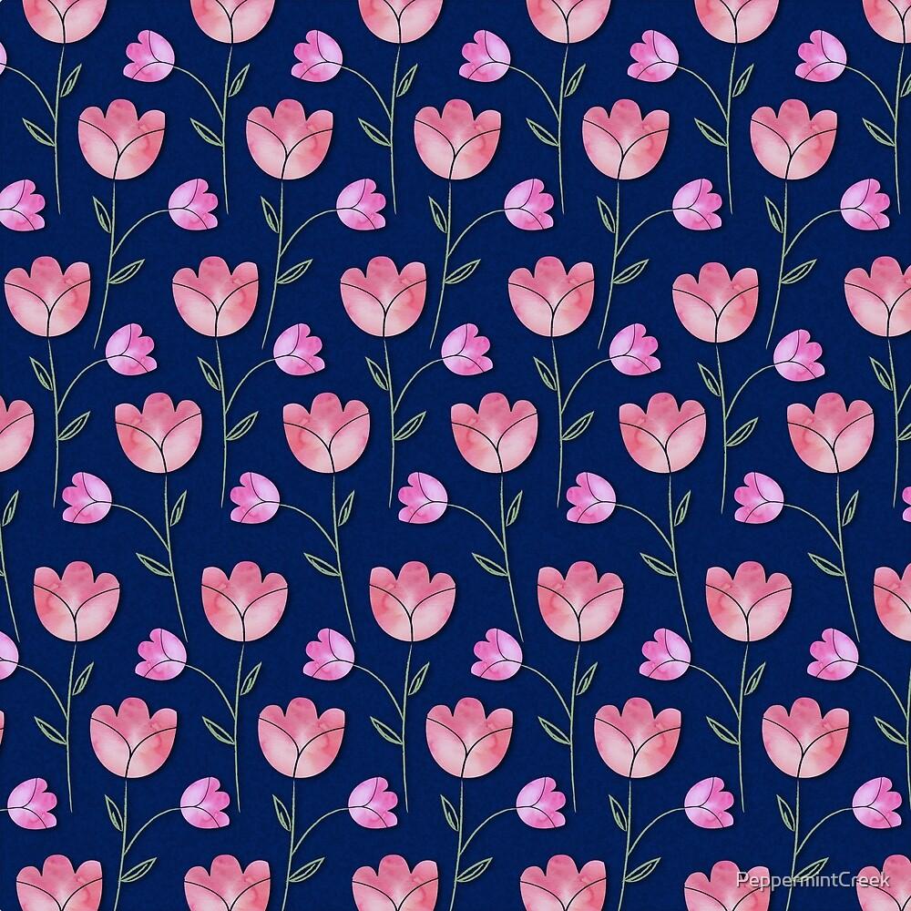 Watercolor Tulips by PeppermintCreek