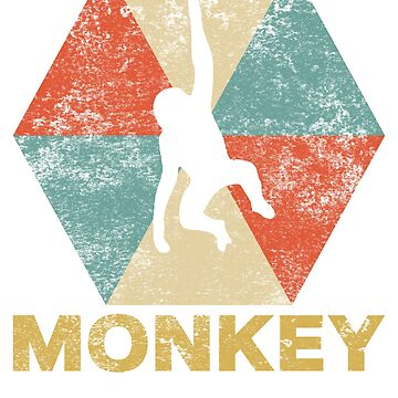 Vintage Polygon Monkey by Distrill