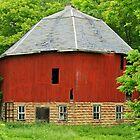 old round barn by Lynne Prestebak