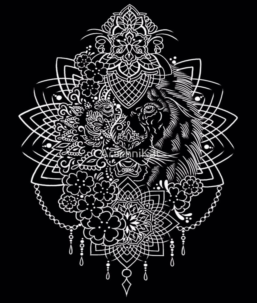 Lion mandala by ArachniKat