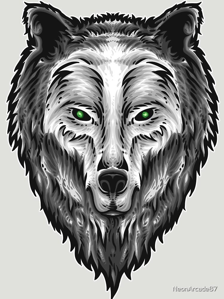 Grey Wolf Art by NeonArcade87