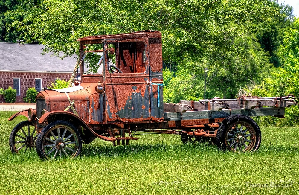 Very Old Rusted Out Truck by TJ Baccari Photography