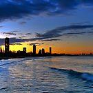 Burleigh Heads at sunset by Richard Majlinder