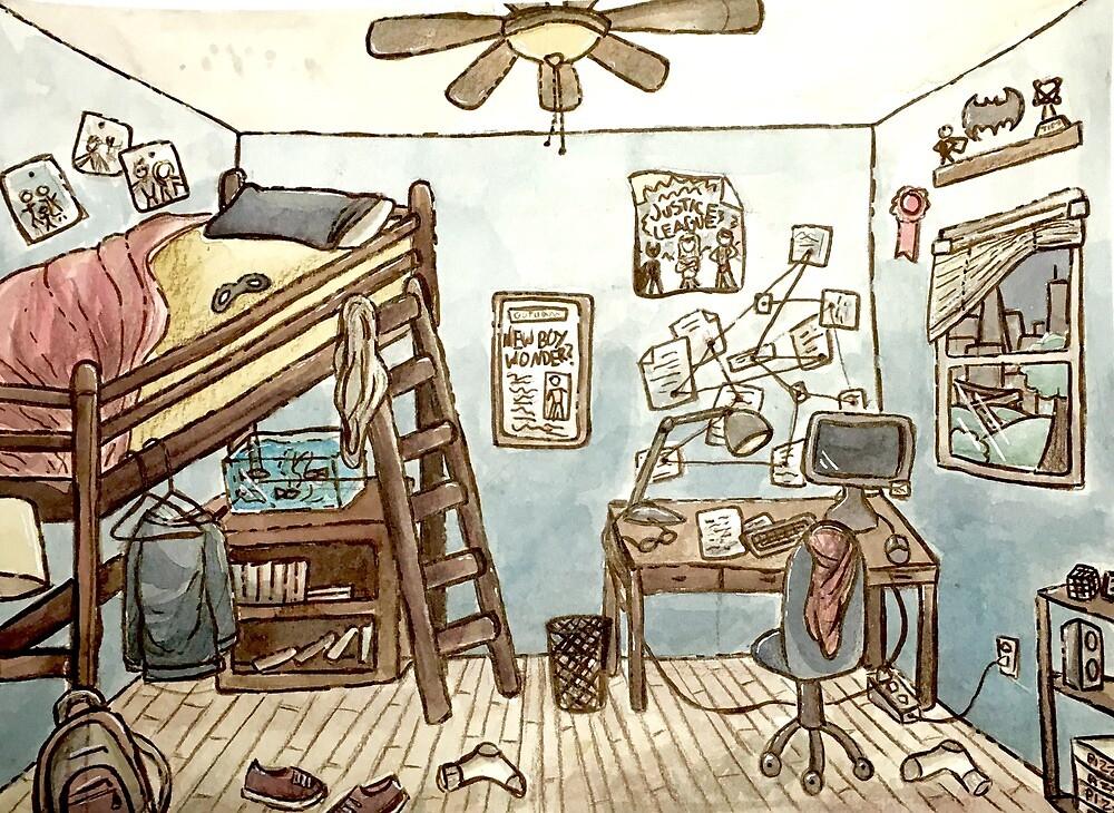 Tim Drakes Room by Meghan C