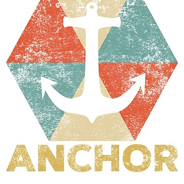 Vintage Polygon Anchor by Distrill