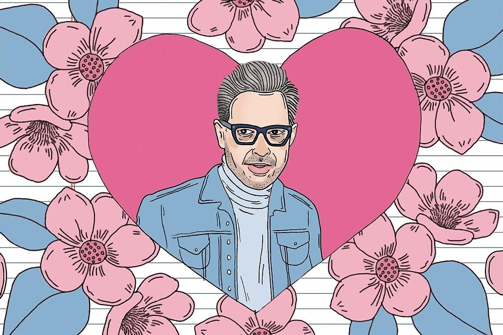Jeff Goldblum Illustration by xiolajensen
